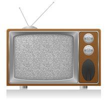 alte Fernsehvektorabbildung vektor