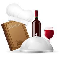 stellen Sie Ikonen für Restaurantvektorillustration ein