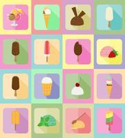 flache Vektorillustration der Eiscreme