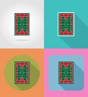 basketplan platt ikoner vektor illustration