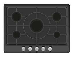 Oberfläche für Gasherd-Vektor-Illustration