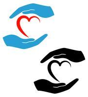 Konzept des Schutzes und der Liebesvektorillustration