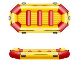 Schlauchbootboot-Vektorillustration
