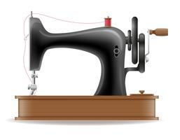 Weinleseikonenvorrat-Vektorillustration der Nähmaschine alte Retro-