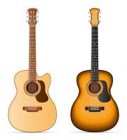 Vektorillustration der akustischen Gitarre auf Lager