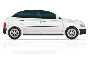 bil hatchback vektor illustration