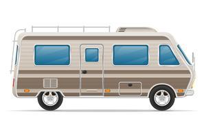 bilbil husvagn husbil husbil vektor illustration