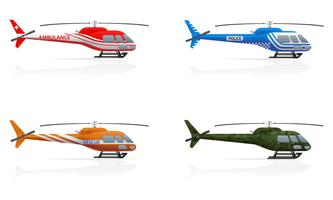 spezielle Hubschrauber-Vektor-Illustration