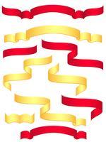 röda och gula banderoller