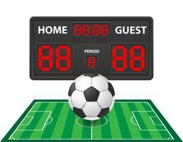 fotboll fotboll sport digital resultattavla vektor illustration