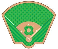 Baseballfeld-Vektorillustration vektor