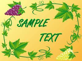 dekorativt mönster av en vit röd druvor och löv vektor