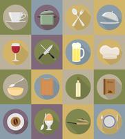Gegenstände und Ausrüstung für die Lebensmittelvektorillustration