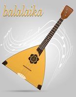 Balalaika-Musikinstrumentvorrat-Vektorillustration vektor