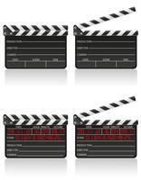 Clapper Board-Vektor-Illustration vektor