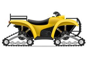 ATV-Motorrad auf vier Bahnen weg von den Straßenvektorillustration