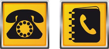Ikonentelefon und -verzeichnis für Designvektorillustration