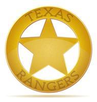 stjärna texas ranger vektor illustration