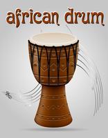 Vektorillustration der Musikinstrumente der afrikanischen Trommel