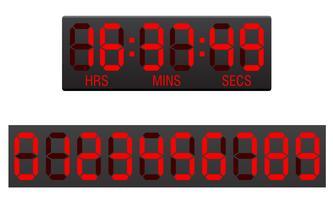 Anzeigetafel digitale Countdown-Timer-Vektor-Illustration