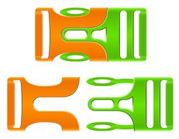 Plastikschnallenverschlussvektorillustration
