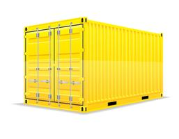 Frachtcontainer-Vektor-Illustration vektor