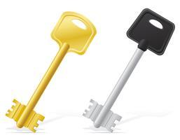 nycklar dörrlås vektor illustration