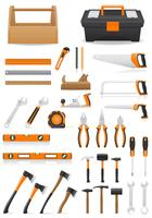 uppsättning verktyg ikoner vektor illustration
