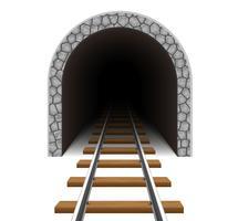 Eisenbahntunnel-Vektor-Illustration