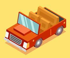 Isometrisk transport Clip Art Set vektor