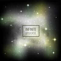 Dekorativer Vektorhintergrund der abstrakten Galaxie