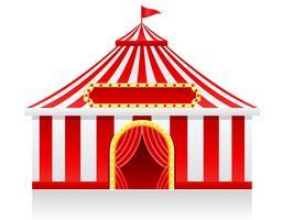 cirkus tält vektor illustration