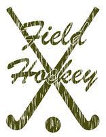 fälthockey sportkoncept vektor illustration