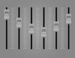 Panel Konsole Mischpult Vektor-Illustration