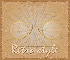 retro stil affisch gamla glasögon pince-nez vektor illustration