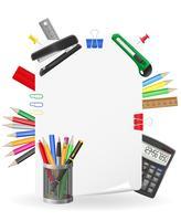 brevpapper uppsättning ikoner vektor illustration