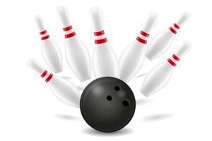 bowlingboll och stift vektor illustration
