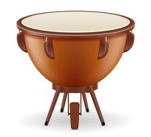 Vektorillustration der Musikinstrumente der Pauke-Trommel auf Lager