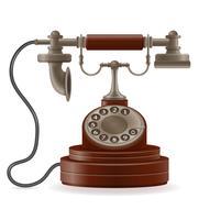 telefon gammal retro ikon lager vektor illustration