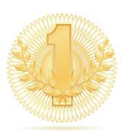 Laureate-Kranz-Siegersportgoldvorrat-Vektorillustration
