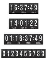 Anzeigetafel Countdown-Timer-Vektor-Illustration