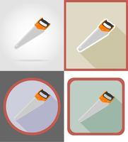 såg reparation och byggverktyg platt ikoner vektor illustration