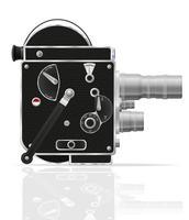 gammal retro vintage filmvideokamera vektor illustration