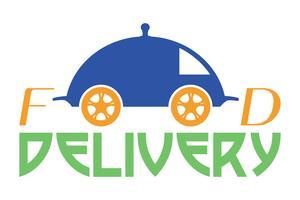 Lebensmittel-Lieferlogo-Vektor-Illustration