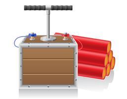 detoniserande säkring och dynanit vektor illustration