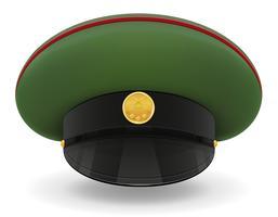 professionelle einheitliche Kappe oder militärische Vektorillustration vektor