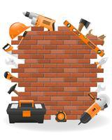Werkzeuge für Reparaturkonzeptikonen-Vektorillustration