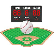 Baseball Sport digitale Anzeigetafel-Vektor-Illustration