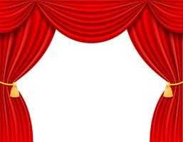 rote Theatervorhang-Vektorillustration