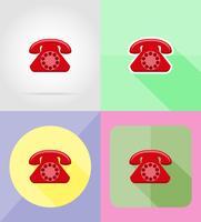 telefon service platt ikoner vektor illustration